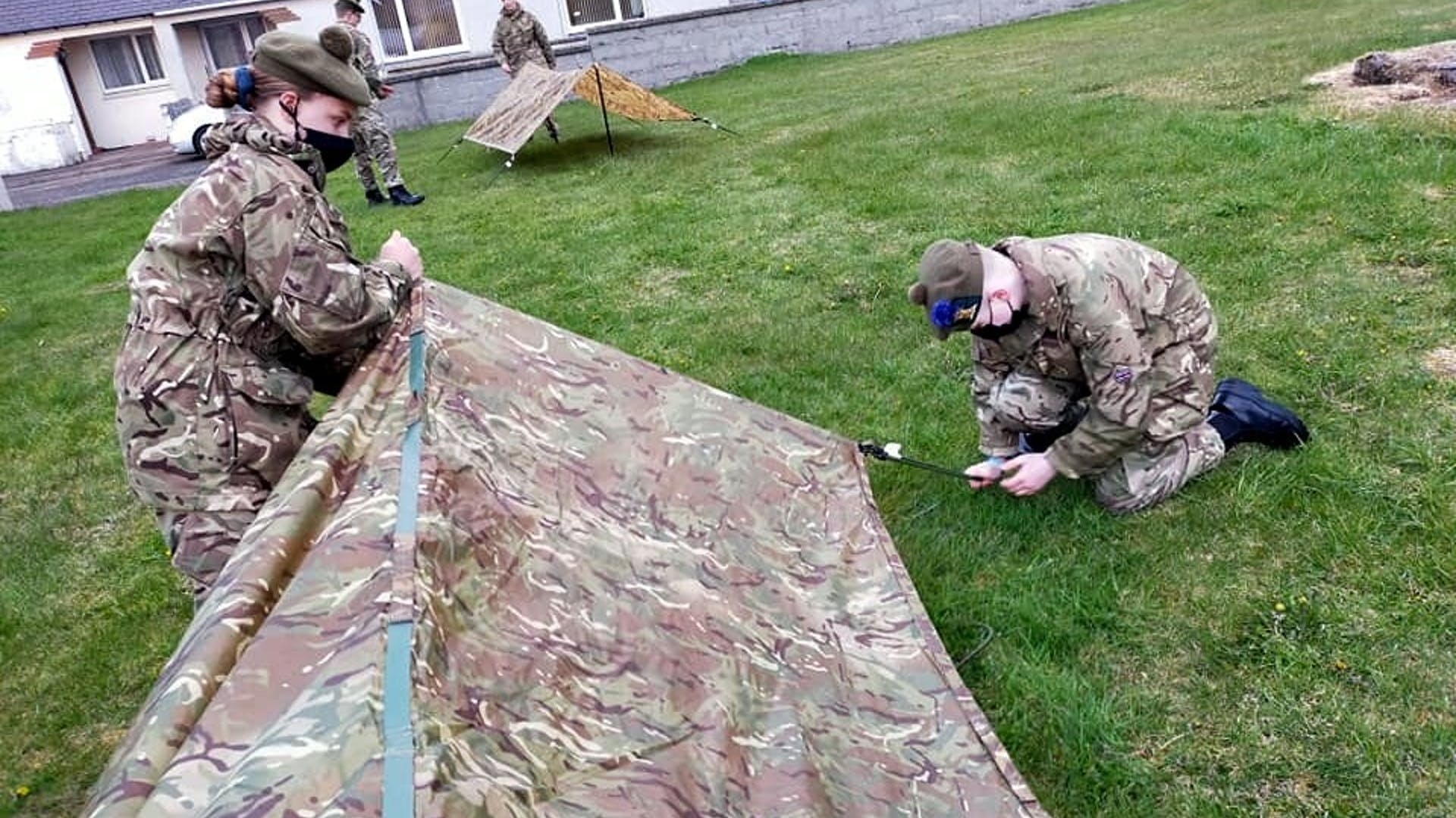 Halkirk Detachment cadets straight back into training on their first night with some Fieldcraft Training