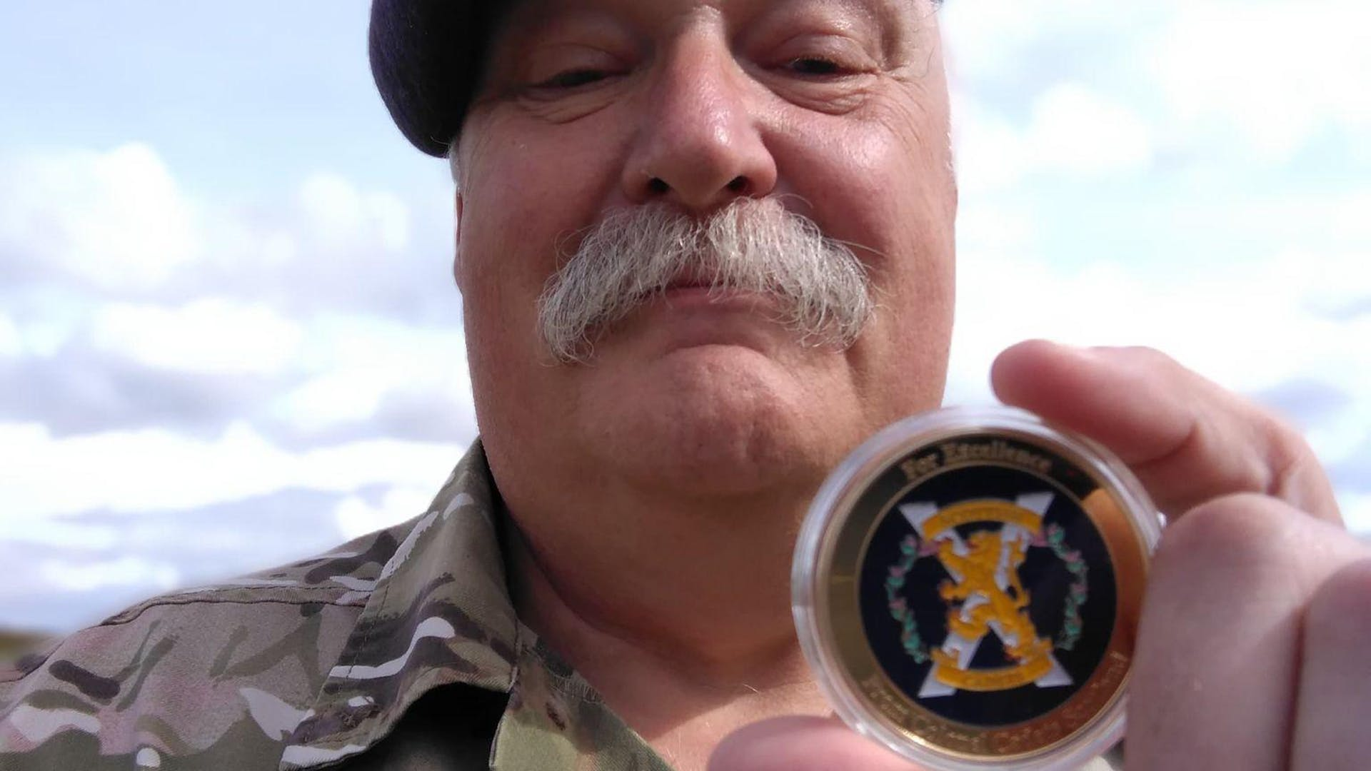 SSI Wilson with his Colonel Cadets Coin