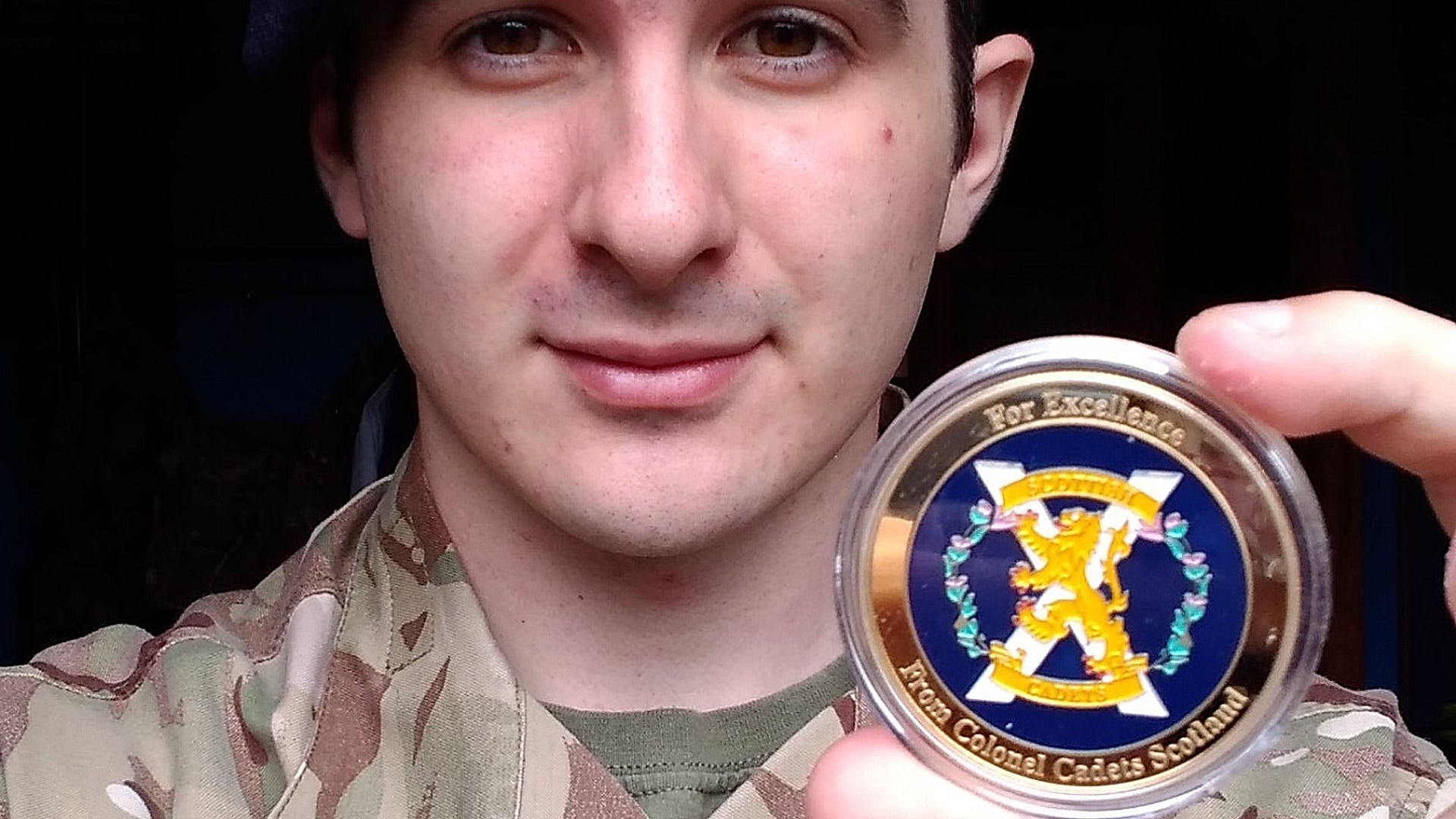 SSgt Rendall with his Col Cadets Coin