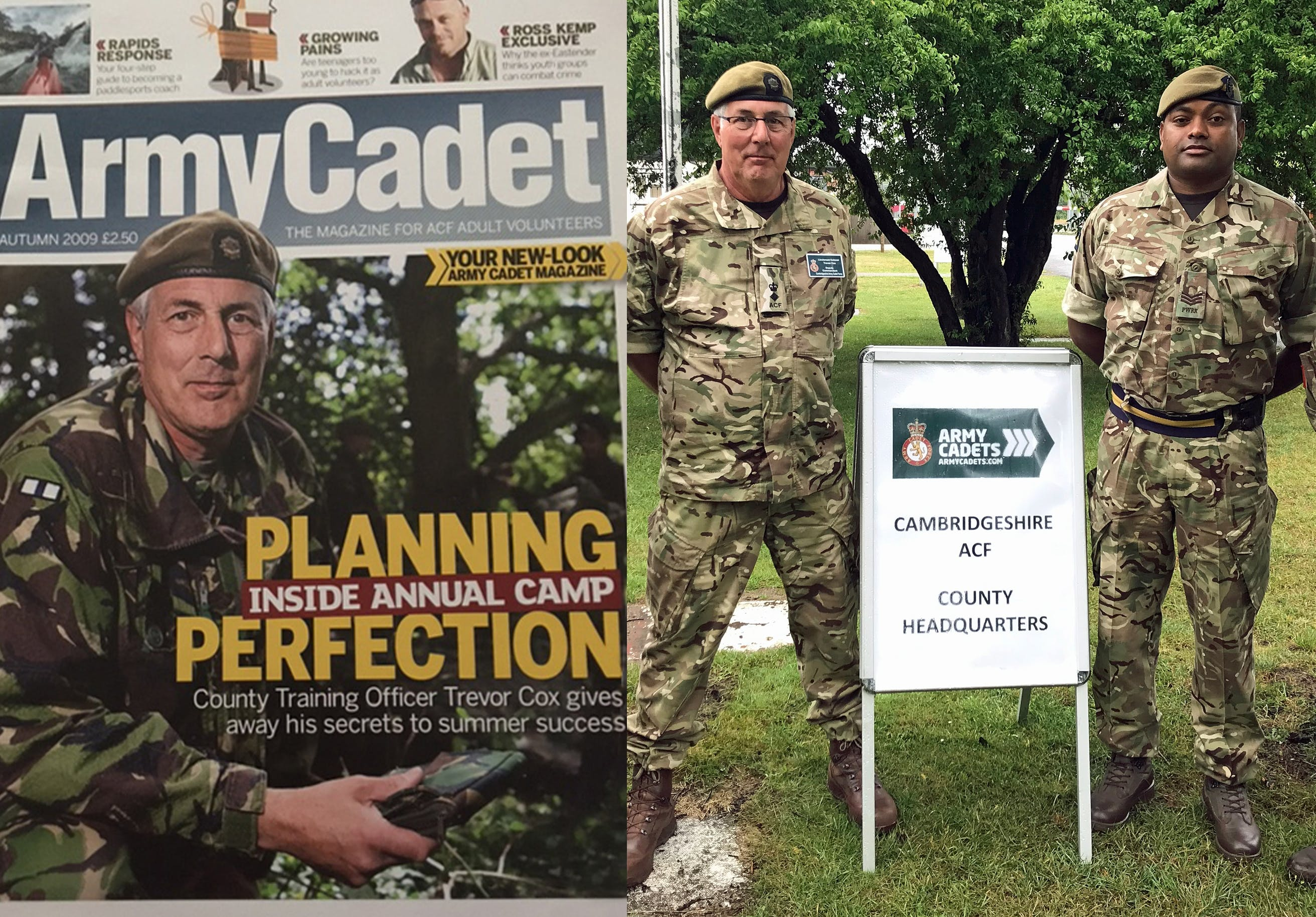 Trevor Cox on the front page of the Army Cadet magazine in 2009