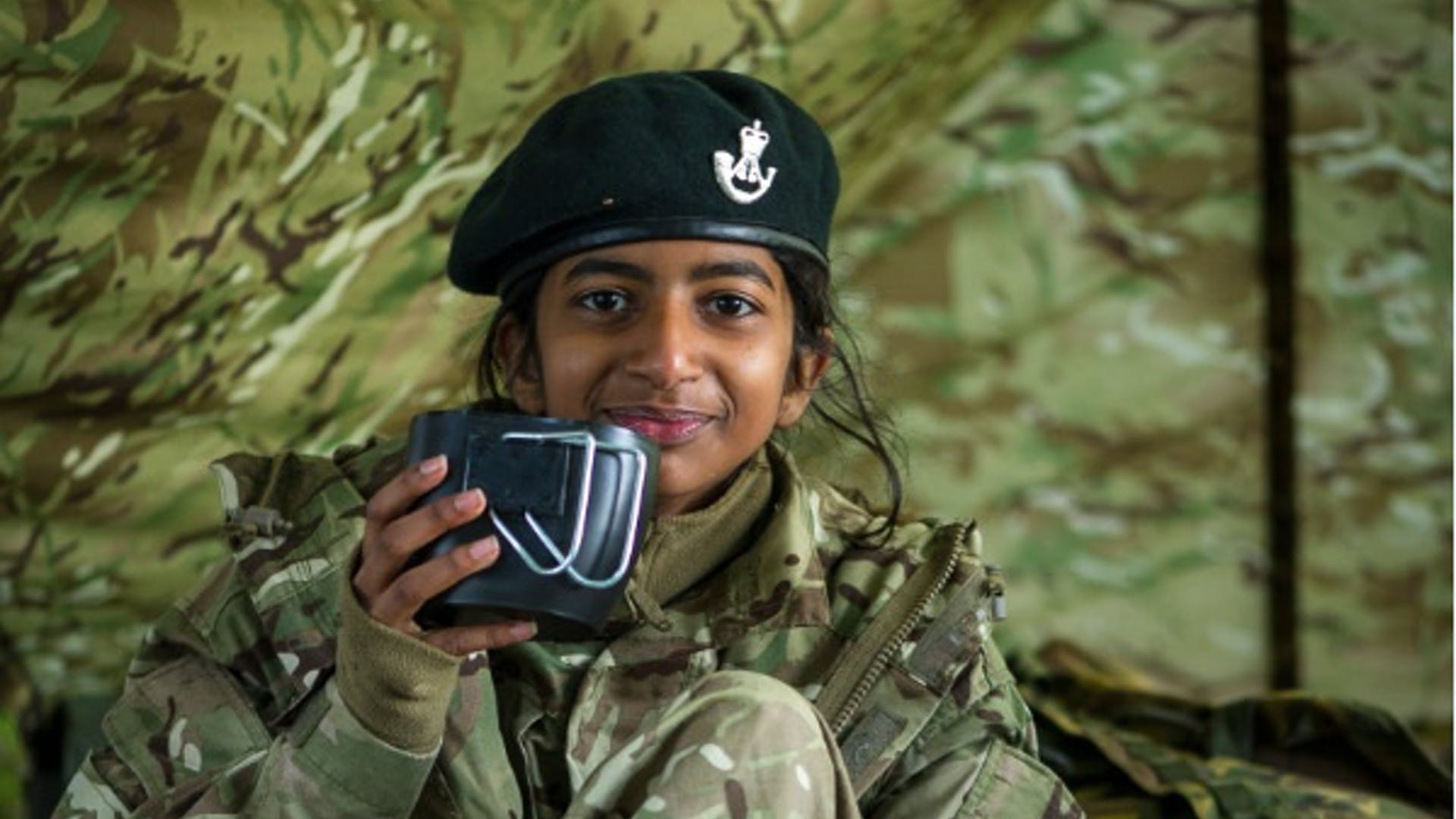 Army cadet for VE 75