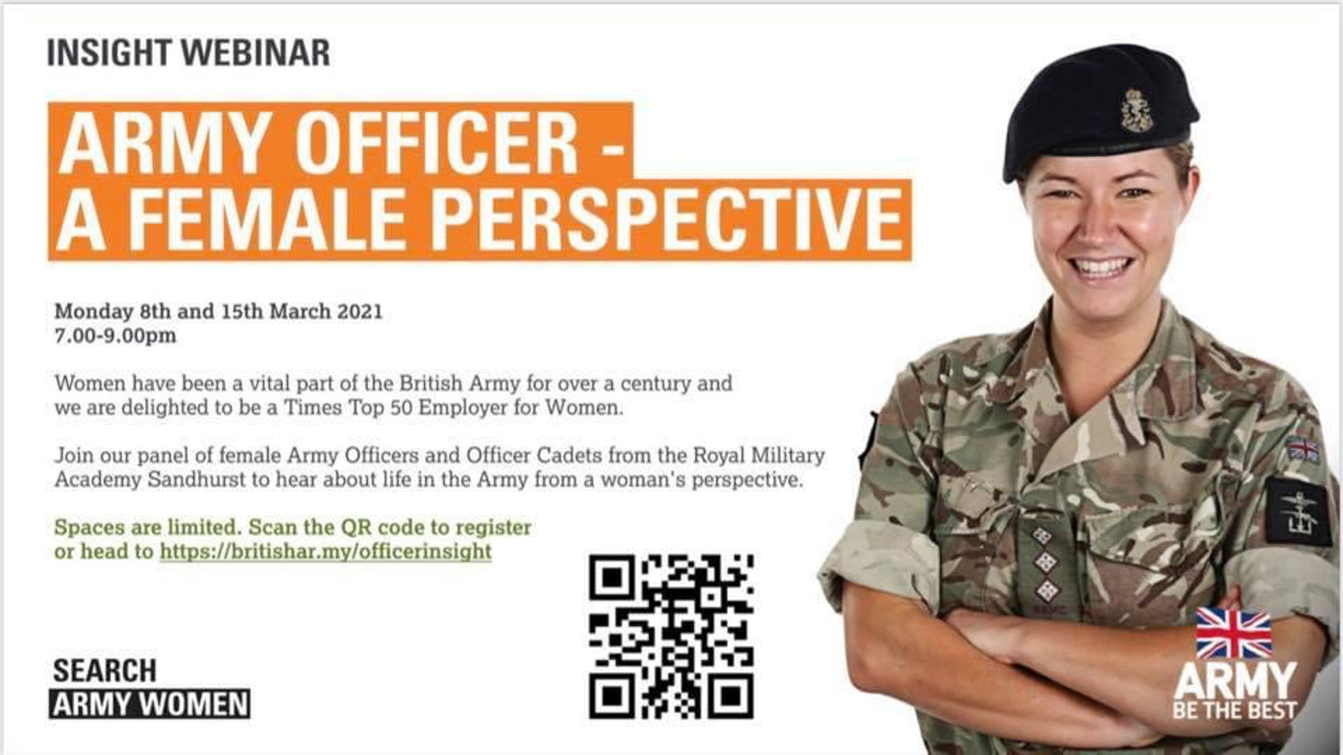 British Army Officer Insights Webinar
