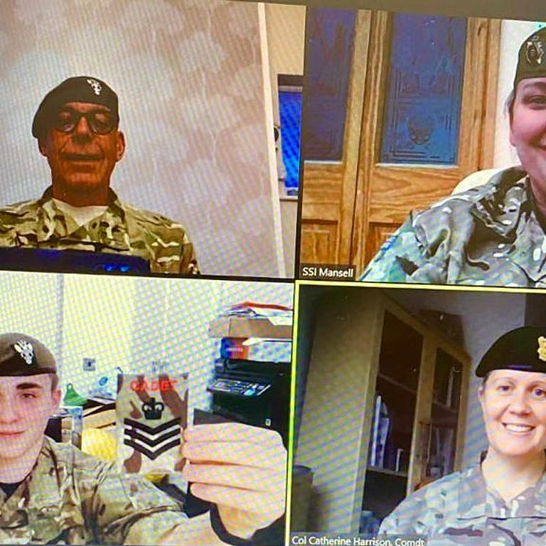 Cadet C Sgt Holloway promtion 3 Coy