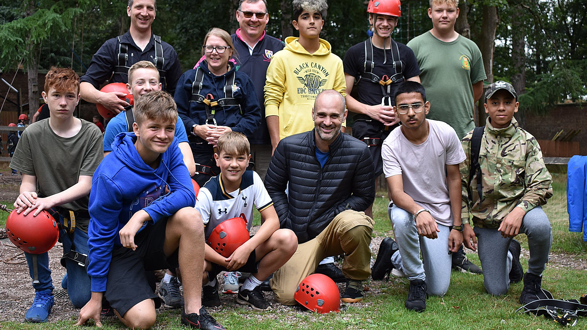 Ed and a few of the Norfolk ACF cadets and adult volunteers he met on camp