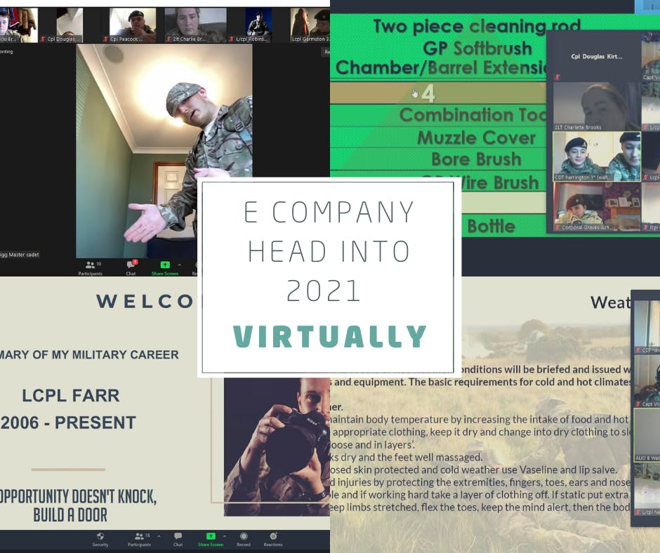 E Company head into 2021 VIRTUALLY!
