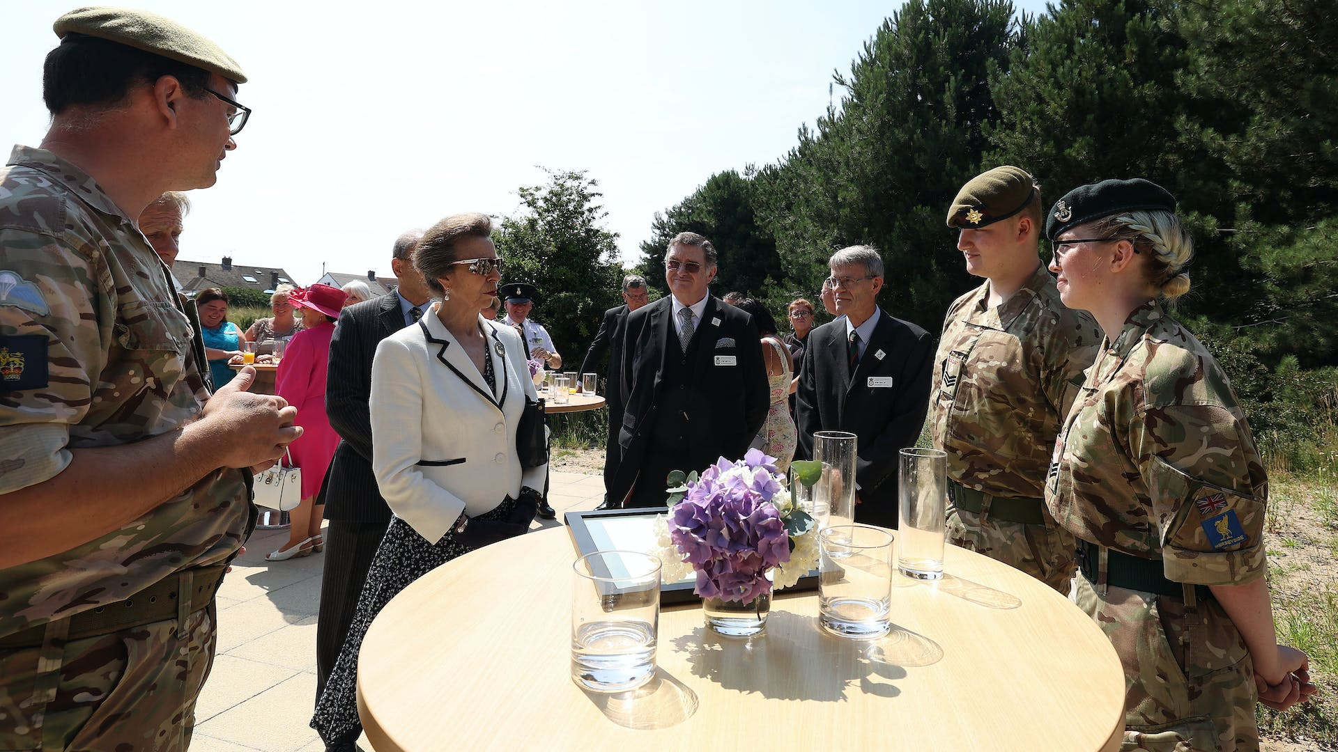 HRH The Princess Royal and Cadet Sergeants Williams and Breeze 1
