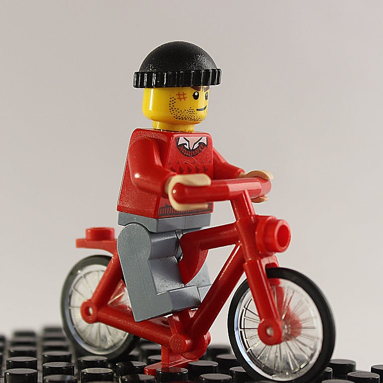 Lego cyclist
