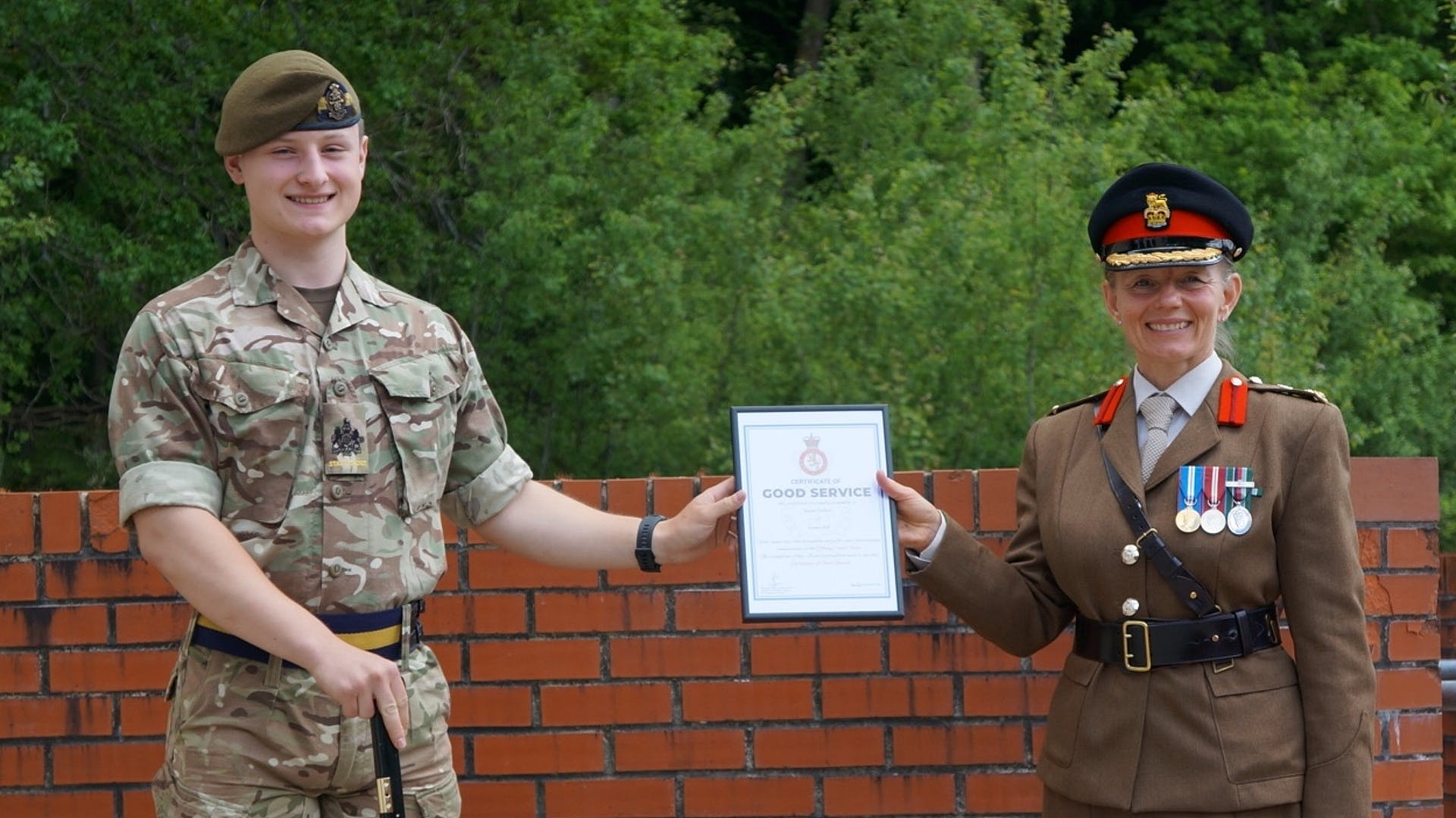 SC RSM Griffiths Certificate of Good Service