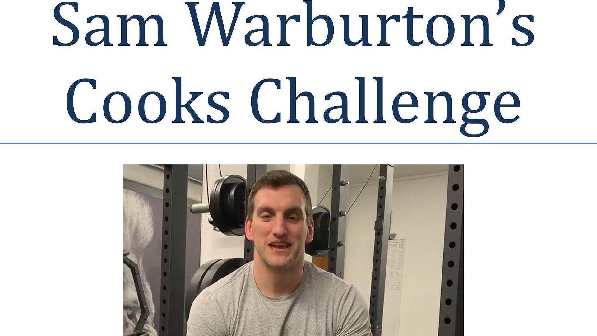 Sam Warburton Cooks Challenge MEN Us