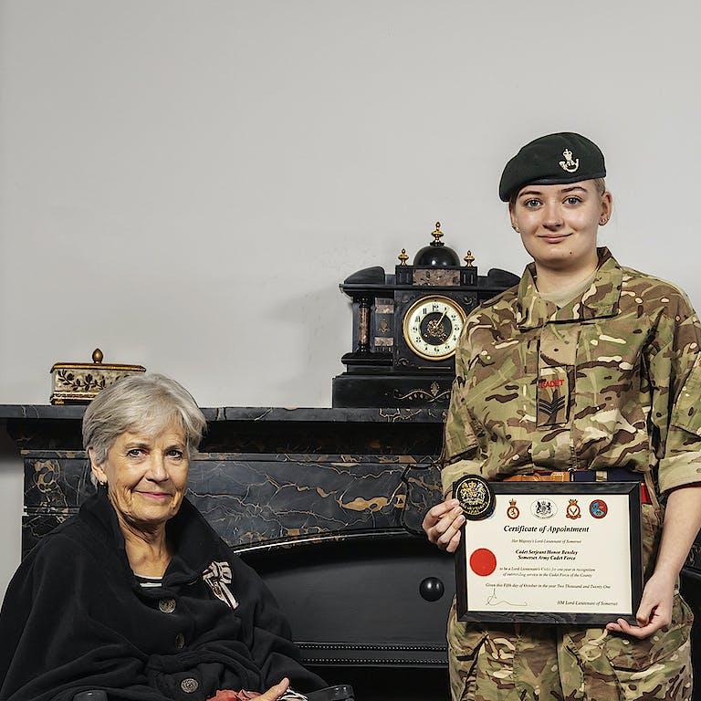 20211005 HDR Annie Maw Sjt Bensley Lord Lieutenants Cadet