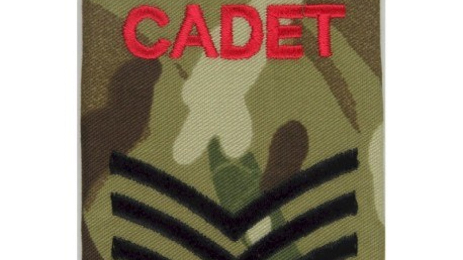 Cadet sergeant mtp camouflage rank slide embroidered nco or officer cadet rank badge