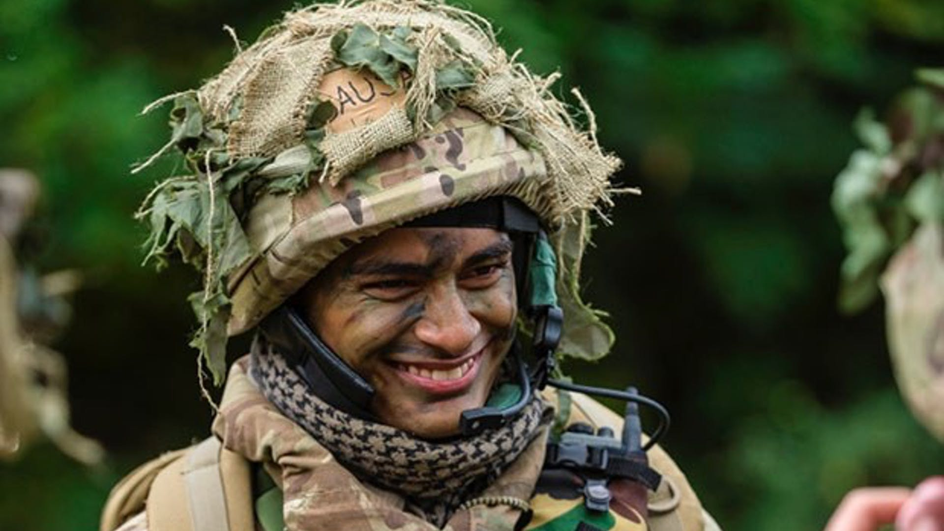 Smiling soldier