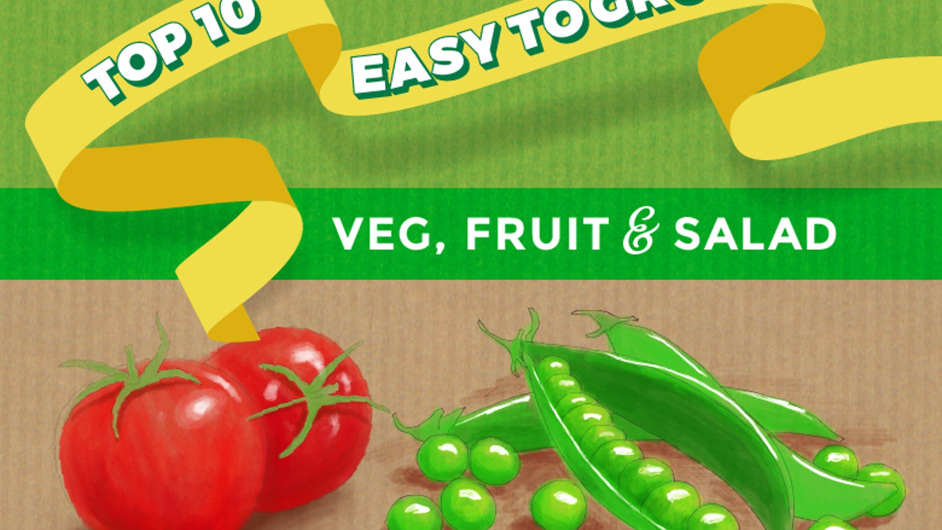 Thompson morgan 10 easy veg infographic header