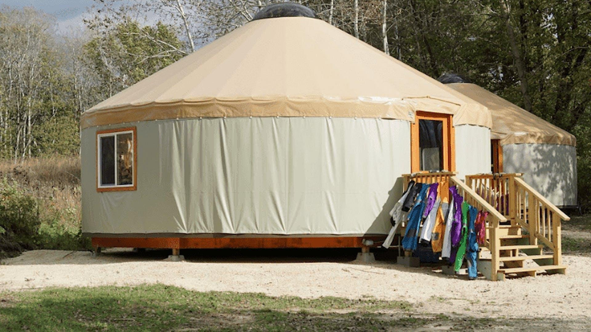 Yurt classrooms coats